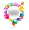 Balloons Speech Bubble vector image