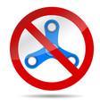 ban spinner symbol vector image vector image