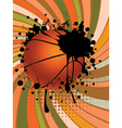 Basketball Ball on Rays Background2 vector image