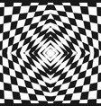 black and white geometric checkered pattern vector image vector image