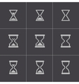black hourglass icons set vector image vector image