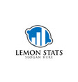 blue lemon and business consulting logo design vector image vector image
