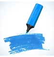 Blue marker with drawn spot vector image vector image