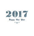 Blue New Year background vector image vector image