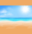 blue sky bright sun ocean and beach vector image