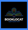 book location logo vector image vector image