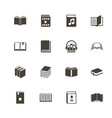 books - flat icons vector image vector image