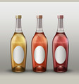 bottles with labels vector image