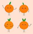 bright cartoon oranges vector image vector image