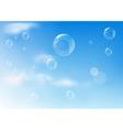 bubbles texture vector image vector image