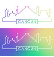 cancun skyline colorful linear style vector image