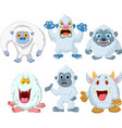 cartoon funny monster collection set vector image