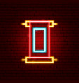 chinese scroll neon sign vector image