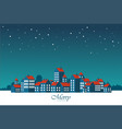 christmas card in flat style greating card vector image vector image