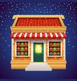 christmas gift presents shop store holiday market vector image vector image