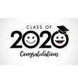 class 2020 congratulations emoticon icons vector image vector image