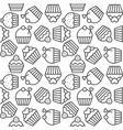 cupcake seamless pattern for use as background or vector image