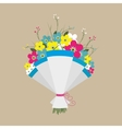 cute bouquet flowers vector image