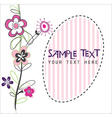 cute flower card vector image