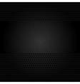 Dark gray background perforated sheet vector image vector image