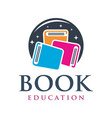 educational book logo design vector image vector image