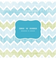 Fabric textured chevron stripes frame seamless vector image vector image