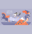 fairy world with virtual reality glasses vector image