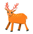 Flat cartoon style raindeer
