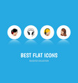 flat icon call set of service call center vector image vector image
