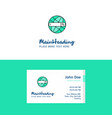 flat internet search logo and visiting card vector image vector image