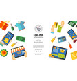 flat online shopping concept vector image vector image