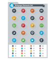 Flat webpage elements icon set vector image vector image