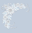 floral ornament holiday decoration white flowers vector image vector image