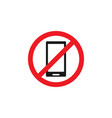 forbidden phone icon design template isolated vector image vector image