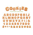 gingerbread alphabet for decoration design vector image