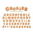 gingerbread alphabet for decoration design vector image vector image