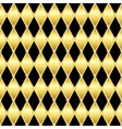 Gold glittering seamless pattern of triangles vector image vector image