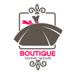 gown on boutique emblem vector image vector image
