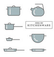 gray elements on a white background saucepan vector image