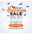 halloween sale with spider vector image vector image