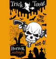 halloween trick or treat night party poster design vector image vector image