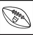 hand drawn american football ball on white vector image