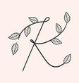 handwritten letter k monogram or logo brand vector image vector image