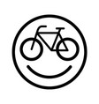 happy bicycle vector image vector image
