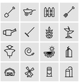 line farming icon set vector image vector image