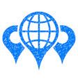 locations icon grunge watermark vector image