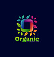 logo organic gradient colorful style vector image