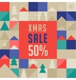 Merry Christmas geometric background sale poster vector image vector image