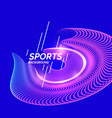 modern colored banner for sports vector image vector image
