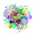 multicolored watercolor paint splatters vector image vector image